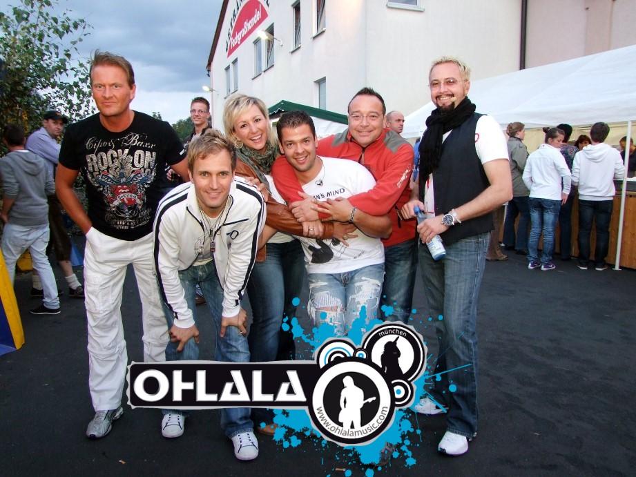 Hoffestbei Getraenke Pohl in Lohr a. Main mit der Partyband OHLALA